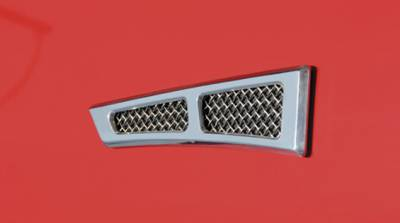 "ALL Most Vehicles Side Vents - Billet Chrome Plated - 8.5""x2"" - No Cutting Required - Pt # 54003"