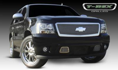 Chevrolet Tahoe, Suburban, Avalanche Upper Class Polished Stainless Mesh Grille - 1 Pc Style Requires cutting factory bumper - Pt # 54052