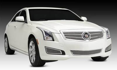 T-REX Grilles - 2013-2014 Cadillac ATS Upper Class Series Main Grille, Polished, 1 Pc, Overlay - PN #54177