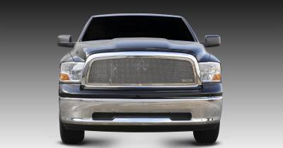 Dodge Ram PU 1500 Upper Class Polished Stainless Mesh Grille - 1 Pc Full Open Requires cutting factory cross bars in OE grille - Pt # 54457