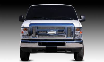 Ford Econoline XLT Upper Class Polished Stainless Mesh Grille - 6 Pc - Pt # 54501