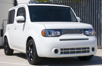 Nissan Cube Upper Class Polished Stainless Mesh Grille Includes upper main grille - Pt # 54772