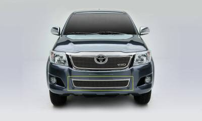 Toyota Hilux Upper Class, Formed Mesh Grille, Bumper, Overlay, 1 Pc, Polished Stainless Steel - Pt # 55909