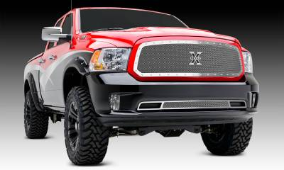 T-REX Dodge Ram 1500 X-Metal, Formed Mesh Grille, Main, Full Opening Requires Cutting Factory Cross Bar in OEM Grille,  Insert, 1 Pc, Polished Stainless Steel - Pt # 6714580
