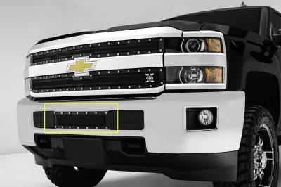 T-REX Grilles - Chevrolet Silverado HD X-METAL Series - Studded Bumper Grille - Pt # 6721221