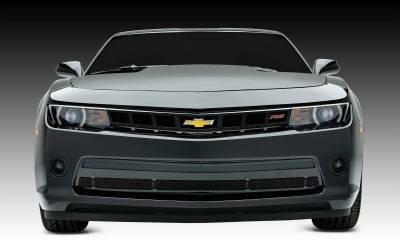 Chevrolet Camaro SS Custom, Main Grille Factory Grille Trim, Overlay, 1 Pc, Black Powdercoated Mild Steel - Pt # 68032