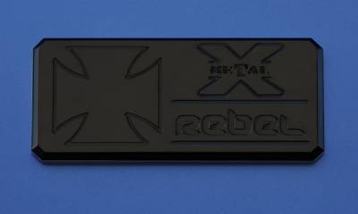 "ALL Most Vehicles ""Rebel"" Series - Body Side Badges - 1 Pc - Black - Pt # 6900011"