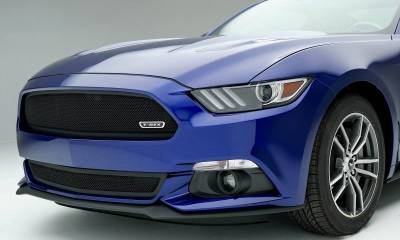 Ford Mustang GT - Upper Class - Formed Mesh Grille, Bumper, Overlay with Flat Black Powder Coated Finish - Pt # 52530