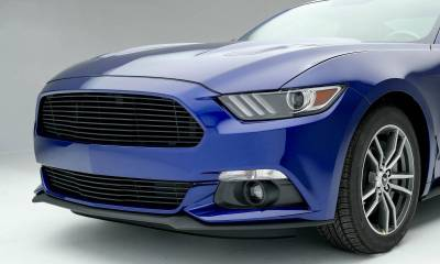 T-REX Ford Mustang GT - Laser Billet Grille - Bumper, Overlay with Flat Black Powder Coated Finish - Pt # 6225301