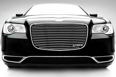 T-REX Grilles - 2015-2018 Chrysler 300 Laser Billet Grille, Polished, 1 Pc, Replacement - PN #6214360