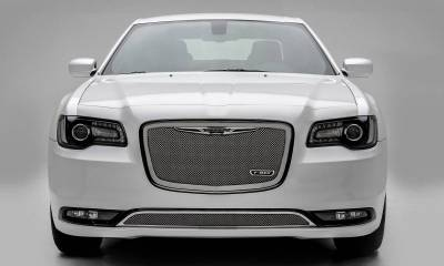 T-REX Grilles - 2015-2018 Chrysler 300 Upper Class Grille, Polished, 1 Pc, Replacement - PN #54436