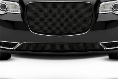 T-REX Grilles - 2015-2018 Chrysler 300 Sport Bumper Grille, Black, 1 Pc, Overlay, Only fits models without adaptive cruise control - PN #47436