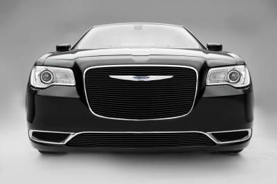 T-REX Chrysler 300 - Billet Series - Main Grille Overlay with Black Powder Coat Aluminum Bars - Pt # 21436B