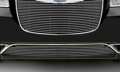 T-REX Grilles - 2015-2018 Chrysler 300 Billet Bumper Grille, Polished, 1 Pc, Overlay, Only fits models without adaptive cruise control - PN #25436