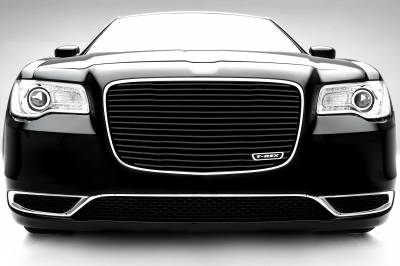 T-REX Chrysler 300 - Billet Series / Laser Cut - Main Grille Replacement with Black Powder Coat Aluminum Bars - Pt # 6214361