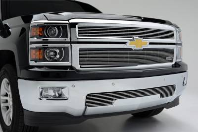 T-REX Chevrolet Silverado 1500 - Billet Grille - Main Overlay - Bolt On - 2 Pc. - Polished - Pt # 21117