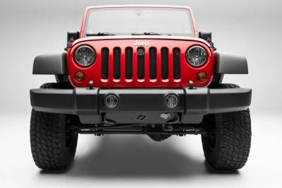 T-REX Grilles - 2007-2018 Jeep JK, JKU Sport Grille, Black, 1 Pc, Bolt-On, with Accommodating Hood Lock Outlet - PN #46482