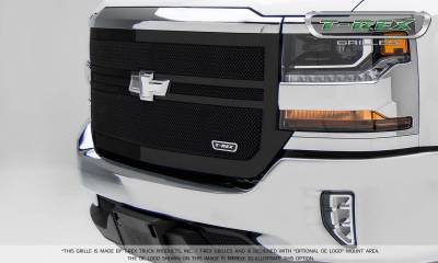 Chevrolet Silverado 1500 Upper Class Mesh Grille, Black Powder Coated, 2 Bar Design, Main Grille Replacement - Pt # 51133