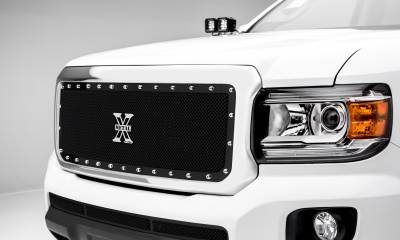 T-REX Grilles - 2015-2019 GMC Canyon X-Metal Grille, Black, 1 Pc, Insert, Chrome Studs - PN #6713711