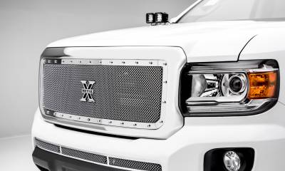 T-REX Grilles - 2015-2019 GMC Canyon X-Metal Grille, Polished, 1 Pc, Insert, Chrome Studs - PN #6713710