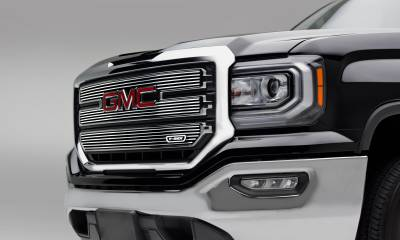 T-REX GMC Sierra 1500 SLE - Laser Billet Main Grille - 3 PC Overlay - Polished - Pt # 6212130