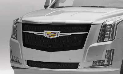 T-REX Grilles - Cadillac Escalade Upper Class Main Grille Replacement - Black w/ Brushed Center Trim Piece - Pt # 51184