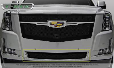 T-REX Grilles - Cadillac Escalade Upper Class Bumper Grille Replacement - Black - Pt # 52183