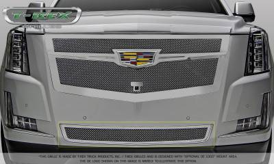 T-REX Grilles - Cadillac Escalade Upper Class Bumper Grille Replacement - Chrome Plated & Polished - Pt # 57183