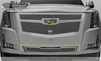 T-REX Grilles - Cadillac Escalade Upper Class Bumper Grille Overlay - Chrome Plated & Polished - Pt # 57181