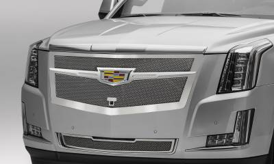 Cadillac Escalade Upper Class Main Grille Replacement - Chrome Plated  w/ Chrome Center Trim Piece - Pt # 56191