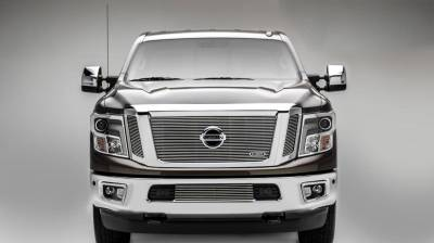 Nissan Titan - Billet Series - 3 Pc Insert - Main Grille w/ Logo Mounts - Polished - Pt # 20785