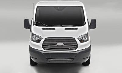 T-REX Grilles - 2016-2018 Ford Transit Billet Grille, Polished, 1 Pc, Replacement - PN #6205750