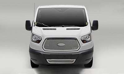 T-REX Ford Transit Van - Upper Class - Main Grille - Insert w/ Logo - Polished Finish - Pt # 54575