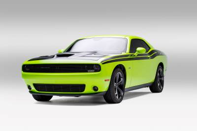 T-REX Grilles - Dodge Challenger - Black Powder Coated - Phantom Style - Laser Billet - Main Grille Overlay - Pt # 6214191