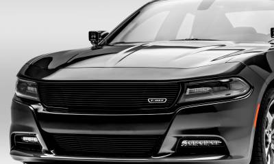 T-REX Grilles - Dodge Charger - Laser Billet w/ 3-D Conturing - 1 Pc Main Grille - Insert - Black Finish - Pt # 6214761