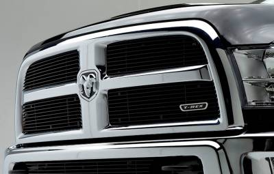 T-REX Grilles - 2013-2018 Ram 2500, 3500 Billet Grille, Black, 4 Pc, Replacement - PN #21452B