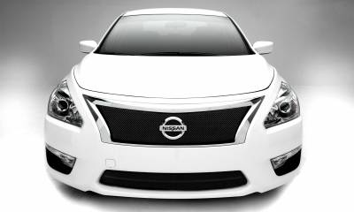 Nissan Altima, Sport Series, Formed Mesh Grille, Main, 1 Pc, Overlay, Black Powdercoated Mild Steel