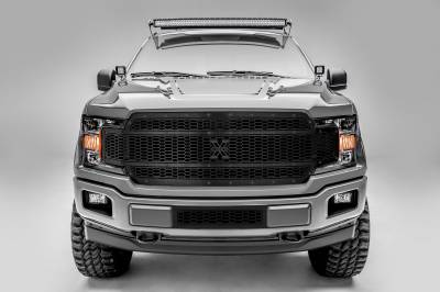 T-REX Ford F-150 - Laser X-Metal STEALTH Series - Main Grille Replacement - Laser Cut Steel Pattern - Black Studs with Black Powdercoat Finish - Pt # 7715841-BR
