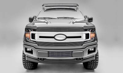 T-REX Grilles - T-REX Ford F-150 - Billet Series - 2 PC Main Grille Overlay / Insert with Polished Aluminum Finish - Pt # 20571