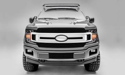 T-REX Ford F-150 - Billet Series - 2 PC Main Grille Overlay / Insert with Black Powdercoat Aluminum Finish - Pt # 20571B