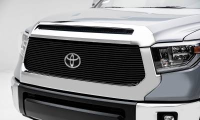 Toyota Tundra Billet Grille - Main Replacement w/ OE Logo Provision - 1 Pc, Black Powdercoated Aluminum Bars - Pt # 20966B