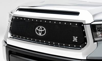 Toyota Tundra X-Metal Grille - Main Replacement w/ OE Logo Provision - 1 Pc, Black Powdercoated w/ Chrome Studs - Pt # 6719661