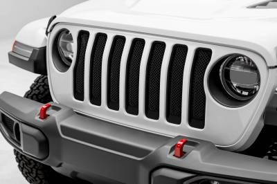 T-REX Grilles - Jeep Gladiator, JL Sport Series Grille, Black, 1 Pc, Insert, without Forward Facing Camera - PN #46493