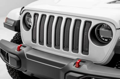 T-REX Grilles - Jeep Gladiator, JL Sport Series Grille, Polished, 1 Pc, Insert, Does Not Fit Vehicles with Camera - PN #44493