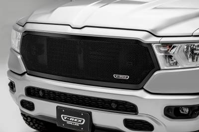 T-REX Grilles - RAM 1500 - Upper Class Series - Main Grille Replacement w/ Formed Mesh - Black Powder Coat Finish - Pt # 51465