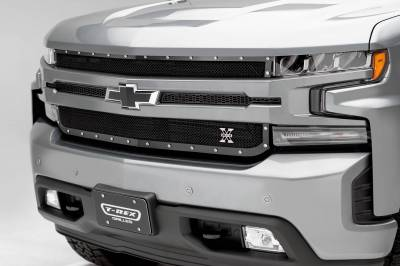 T-REX Grilles - Chevrolet Silverado 1500 2019 X-Metal Grille, Black, Mild Steel, 1 Pc, Replacement - Pt #6711261