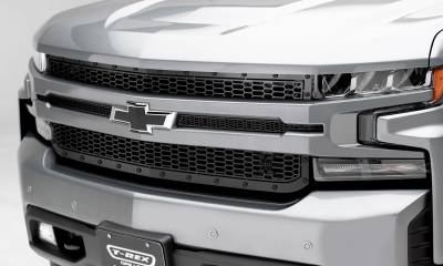 T-REX Grilles - Chevrolet Silverado 1500 2019 Stealth Laser X Grille, Black, Mild Steel, 1 Pc, Replacement - Pt #7711261-BR