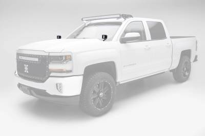 ZROADZ - 2014-2018 Silverado, Sierra 1500 Hood Hinge LED Kit with (2) 3 Inch LED Pod Lights - PN #Z362081-KIT2