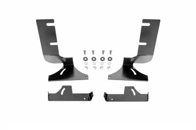 ZROADZ - 2019-2021 Silverado, Sierra 1500 Rear Bumper LED Bracket to mount (2) 6 Inch Straight Light Bar - PN #Z382282