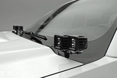 ZROADZ - 2015-2019 Silverado, Sierra HD Hood Hinge LED Kit with (4) 3 Inch LED Pod Lights - PN #Z361221-KIT4